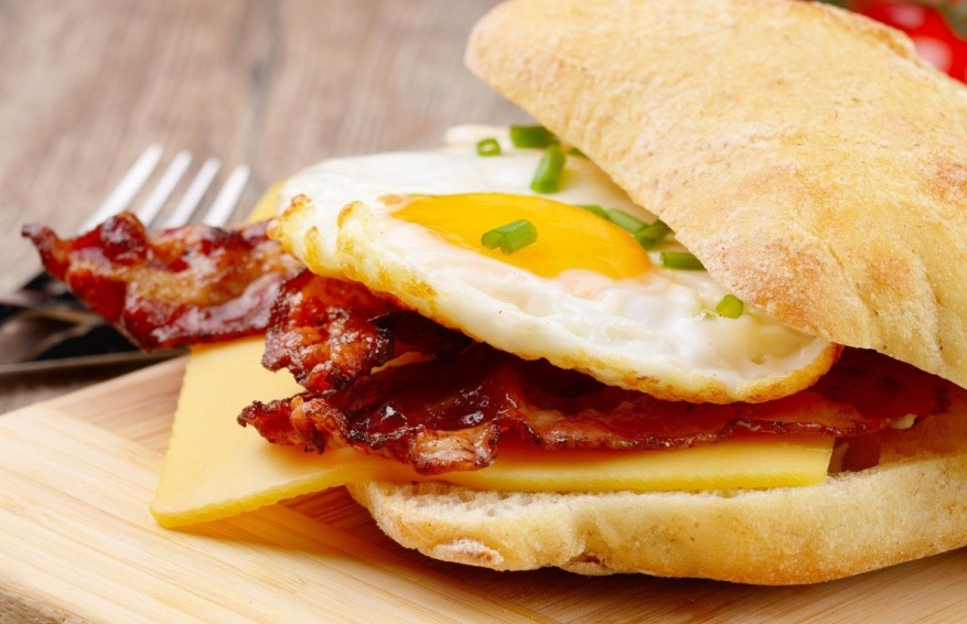 2 Bacon Egg and Cheese Sandwich shutterstock_283549295