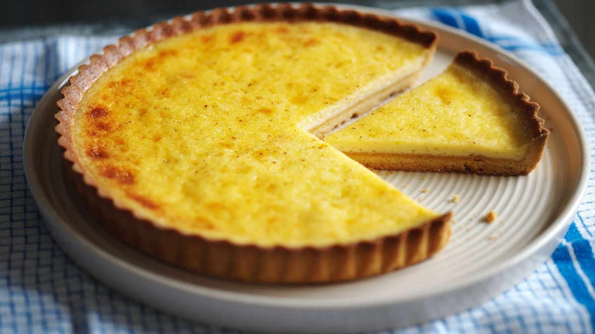English Custard Tart  (Tarta de crema inglesa)