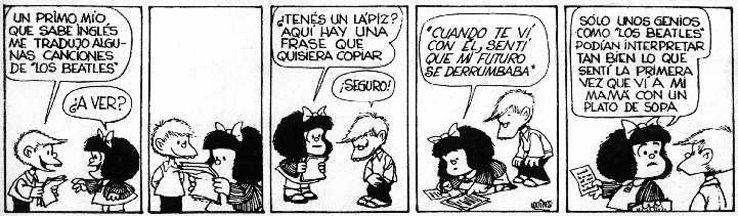 Mafalda y Los Beatles