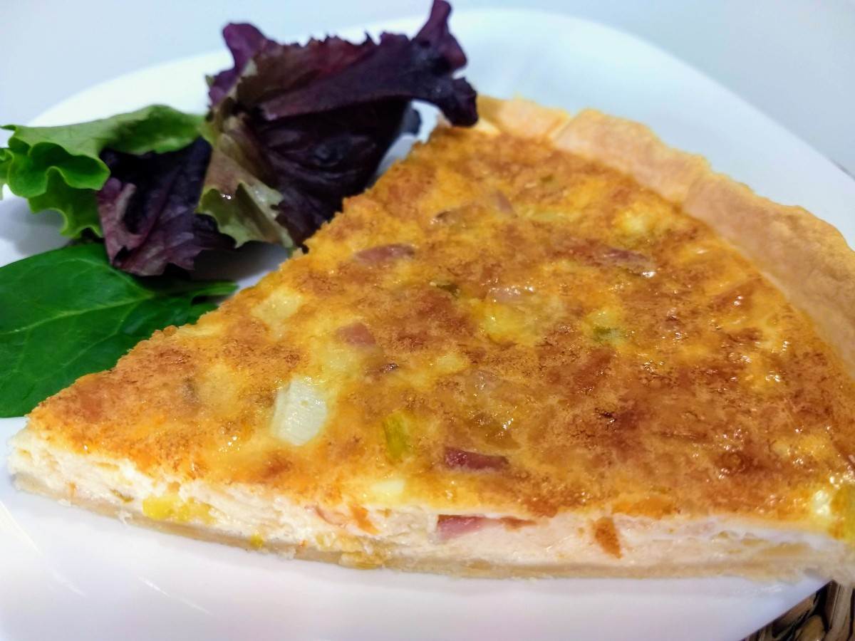 Quiche  de queso y bacon